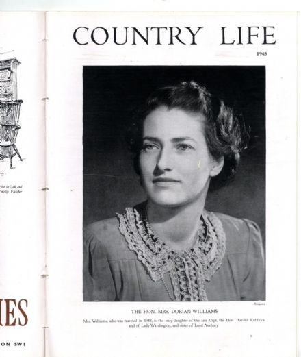 1945 COUNTRY LIFE Magazine WESTON PARK STAFFS Mrs Dorian Williams VINTAGE (9452)